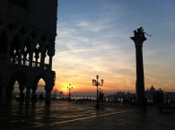 Sunrise from San Marco square