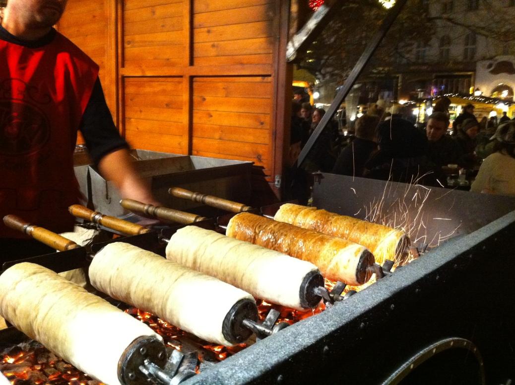 Delicious Cinnamon Kürtös Kalács - Budapest Christmas Market