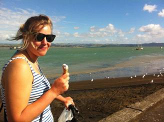 Gracey at the harbour, Kawhia