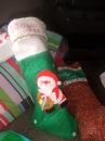 Handmade Christmas stockings - Vanya's and mine